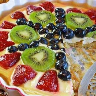 Cream Cheese Fruit Tart with Almond Crust [GF]