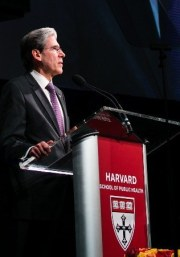 """""""Each of you has faced that defining choice between caring and indifference--and you have chosen to care. Beyond that, you have chosen to focus your efforts on science and public health, the most enlightened and lasting ways of making a real difference. Finally, you have chosen Harvard--because it is the best place to invest in research and education to deal with the largest problems of the world. This is the chain of choice that brings you here, now. And this is the chain of choice that will improve health for everyone, everywhere."""" -- Julio Frenk"""
