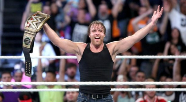 Image result for dean ambrose wins wwe championship