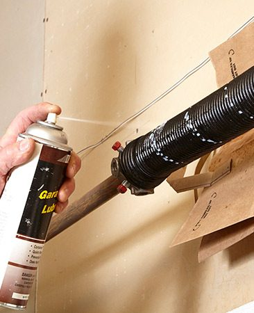 apply a lubricant garage door springs