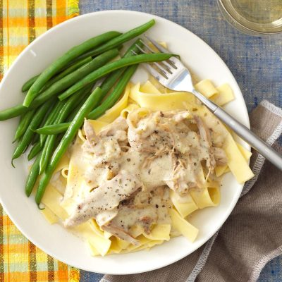 Slow-Cooked Turkey Stroganoff Recipe | Taste of Home