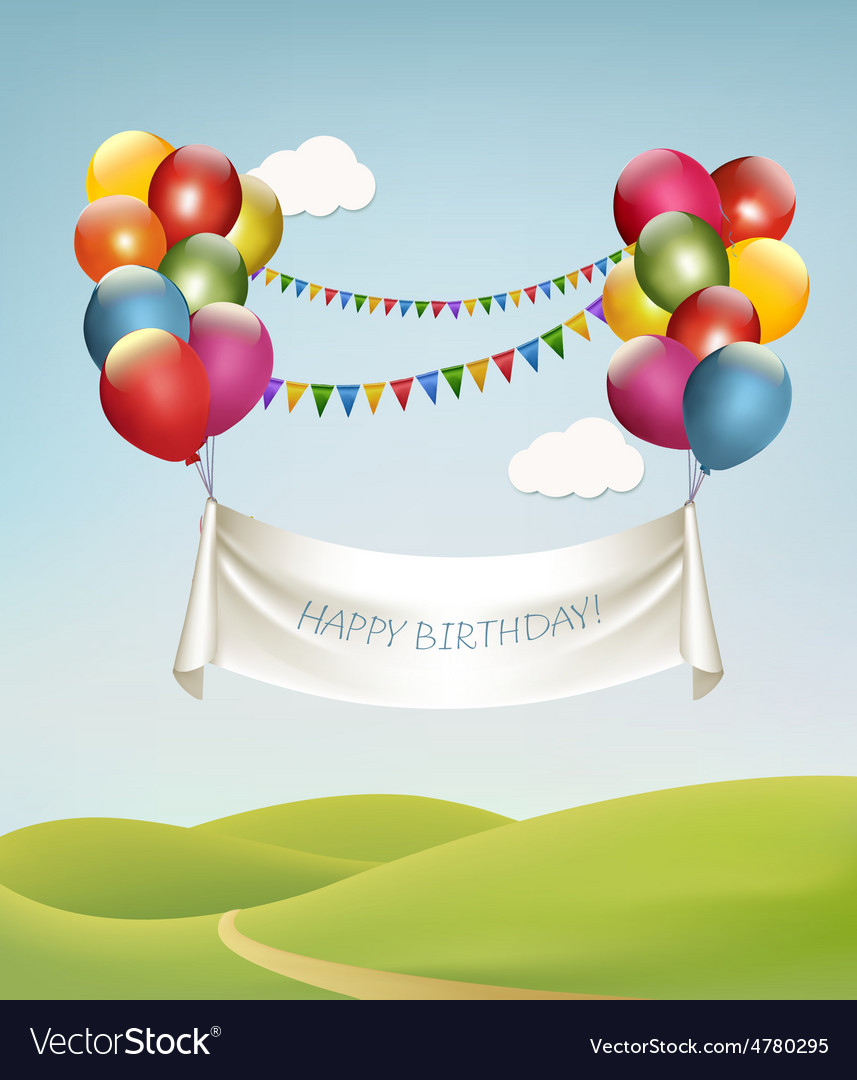 Relaxing Balloons Vector Image Happy Birthday Banner Names Balloons Royalty Free Vector Happy Birthday Banners Target Happy Birthday Banners Happy Birthday Banner baby Happy Birthday Banners