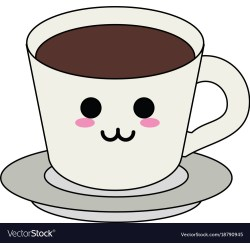 Fashionable Delicious Coffee Cup Kawaii Cartoon Vector 18790945 Coffee Cup Clipart Coffee Cups
