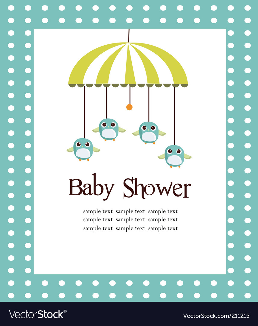 Fullsize Of Baby Shower Card