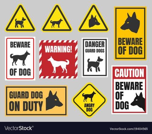 Medium Of Beware Of Dog Signs