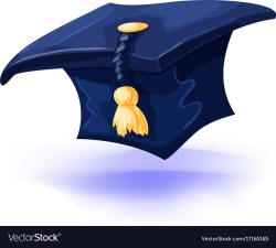 Relieving Graduation Cap G Tassel Isolated On Vector 17165165 Blue Graduation Cap Card Box Blue Graduation Cap Clipart