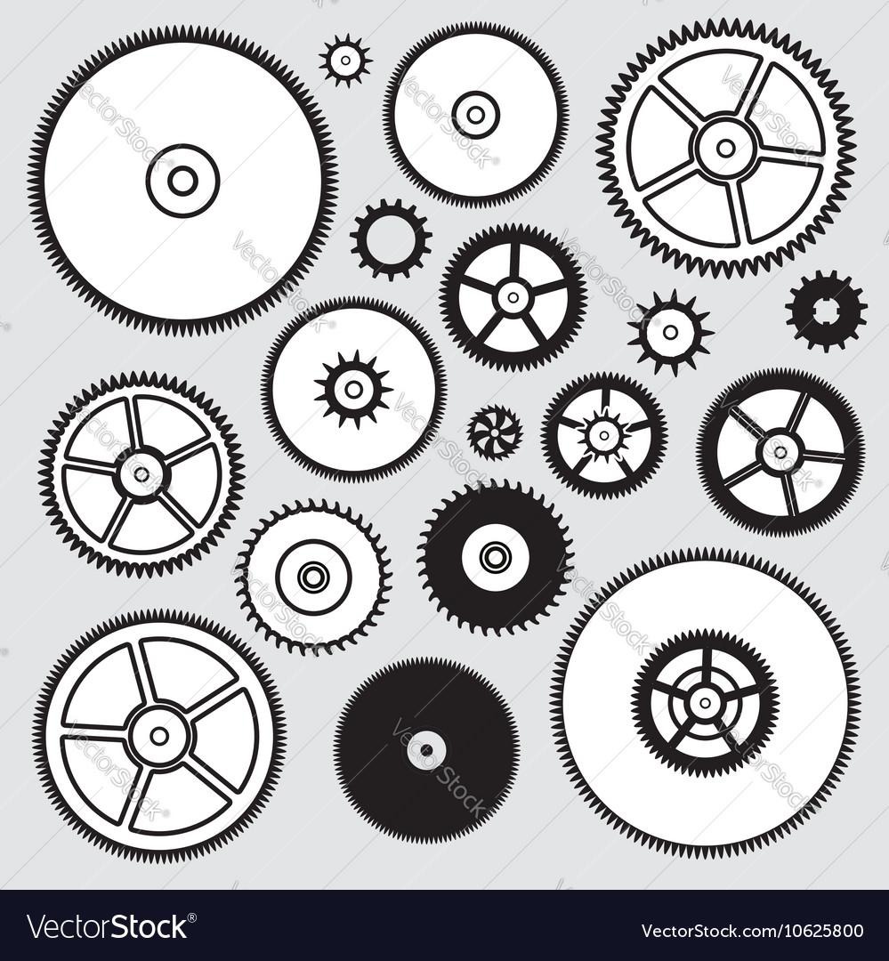 Peculiar Clock Gears Vector Image Clock Gears Royalty Free Vector Image Vectorstock Clock Gear Images Blue Background furniture Clock Gears Images
