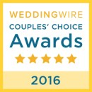PS I Love You Ceremonies, WeddingWire Couples' Choice Award Winner 2016