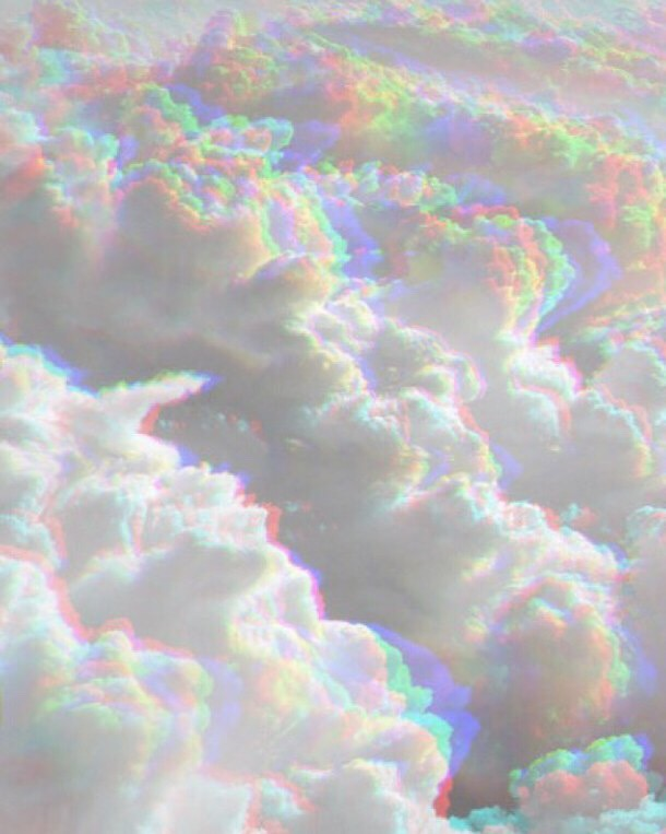 rainbow clouds aesthetic background freetoedit...