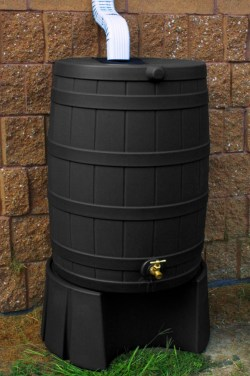 Small Of Rain Barrel Stand