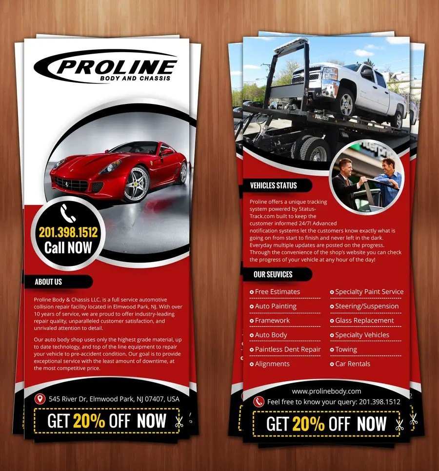 Entry  8 by hello3colors for Design a 1 Panel Brochure for Car     Contest Entry  8 for Design a 1 Panel Brochure for Car Business