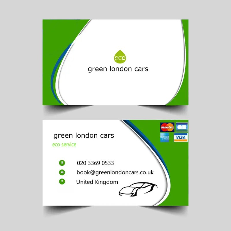 Large Of What Size Are Business Cards