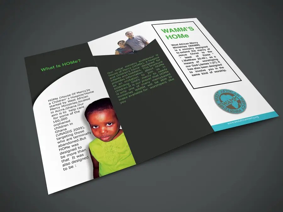 Entry  3 by risaadodx for Design a Brochure for Special Needs     Contest Entry  3 for Design a Brochure for Special Needs Children Orphanage  in Ghana