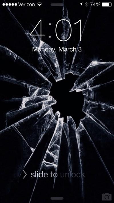 7 Broken Screen Wallpapers For Apple iPhone - Best Prank To Fool Apple Fanboy