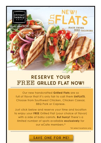 Reserve your FREE Grilled Flat today