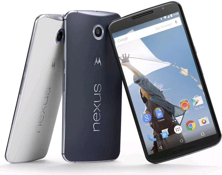 Nexus 6 en colores blanco y gris