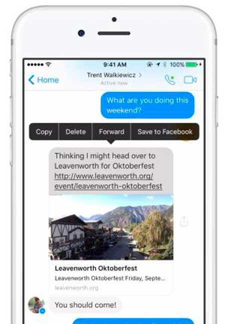 Messenger guardar a facebook