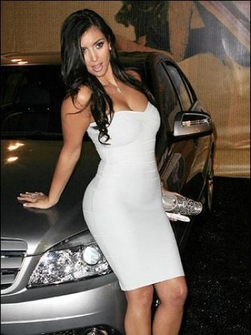 Kim Kardashian posing on car Wallpaper | iPhone | Blackberry