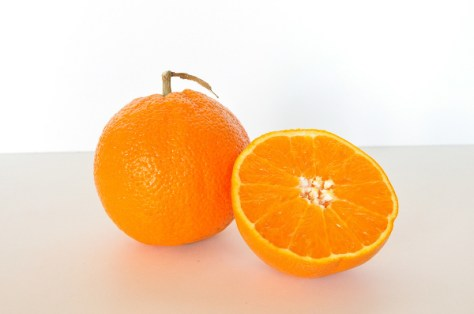 glowing skin with orange