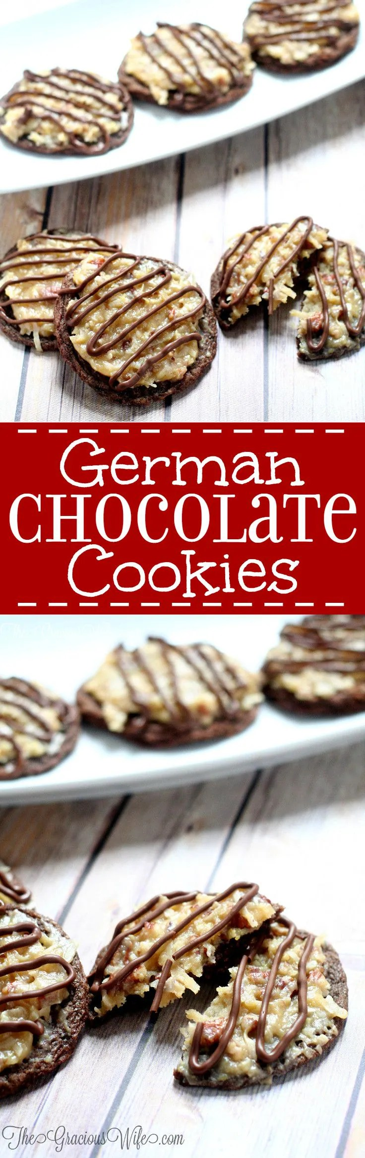 Fancy German Chocolate Cake Cookies Recipe A Delicious Combination German Chocolate Cake Cookies Wife Anddecadent Chocolate Cookies nice food German Chocolate Cookies