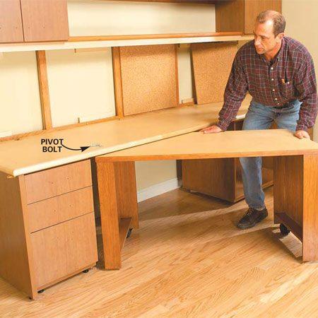 photo diy home office desk plans t