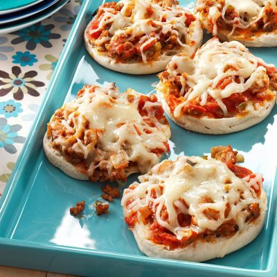 English Muffin Pizza Joes Recipe | Taste of Home