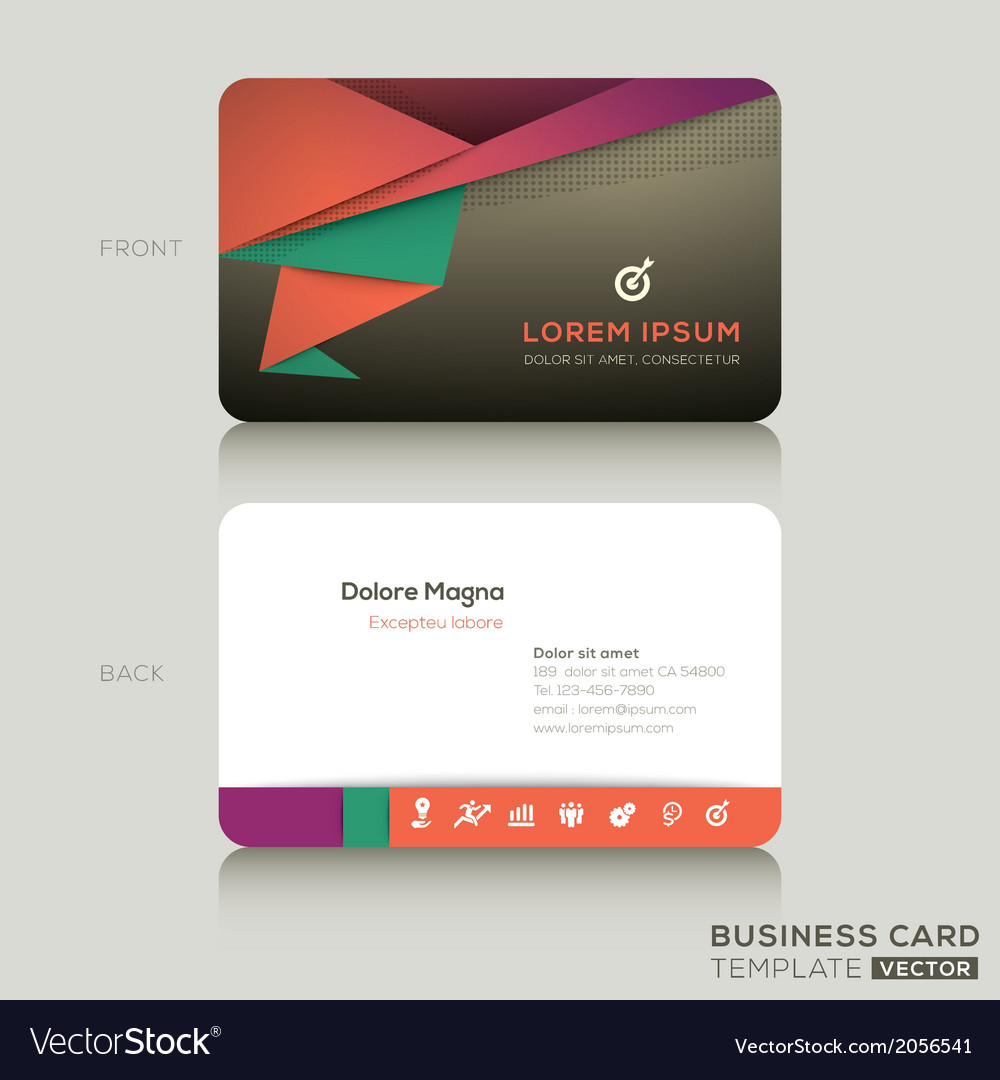 Shapely Business Cards Design Template Vector Image Business Cards Design Template Royalty Free Vector Business Card Templates Free Business Card Examples cards Modern Business Card