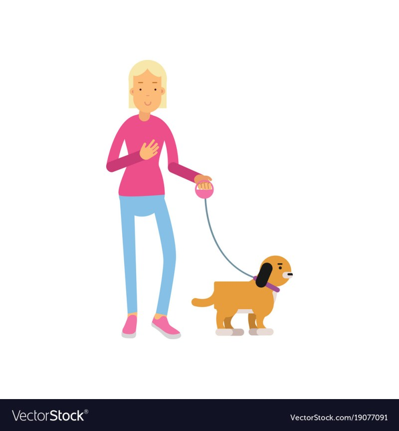 Large Of A Girl And Her Dog