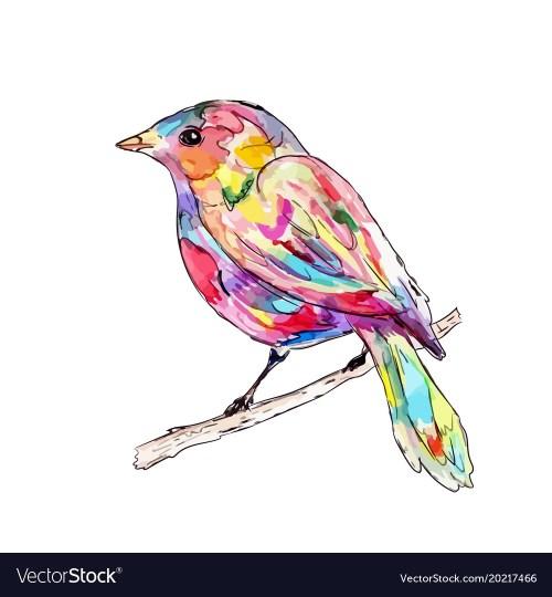 Medium Of Bird On A Branch