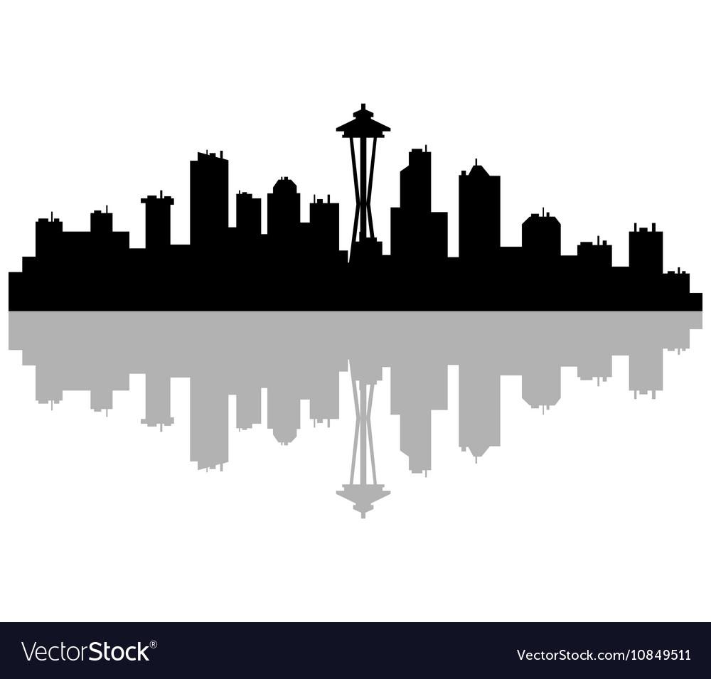 Fullsize Of Seattle Skyline Outline