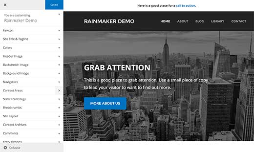 Customizing your theme in Rainmaker