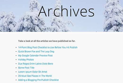 List all posts in WordPress