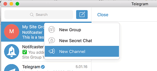 Creating a new Telegram channel
