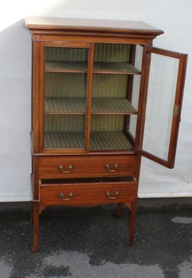 Glass Cabinet 1930s 2 Glass Cabinet For Sale83