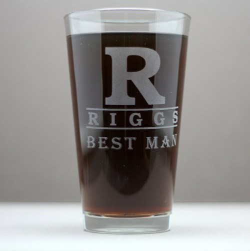 Medium Of Personalized Pint Glasses