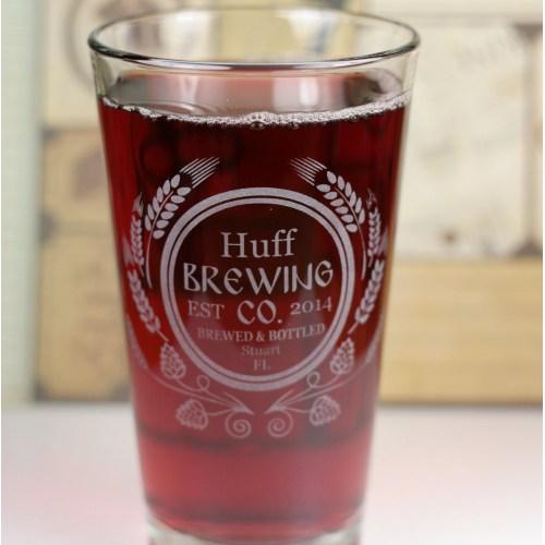 Medium Crop Of Personalized Beer Glasses