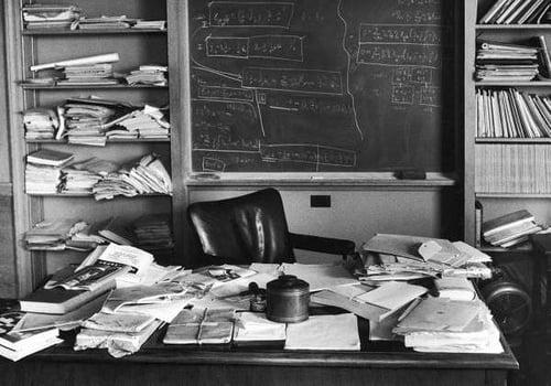 Escritorio de Albert Einstein, 1955