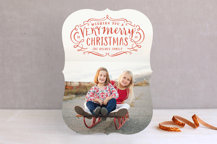 Very Merry Flourish Christmas Card by Minted.com