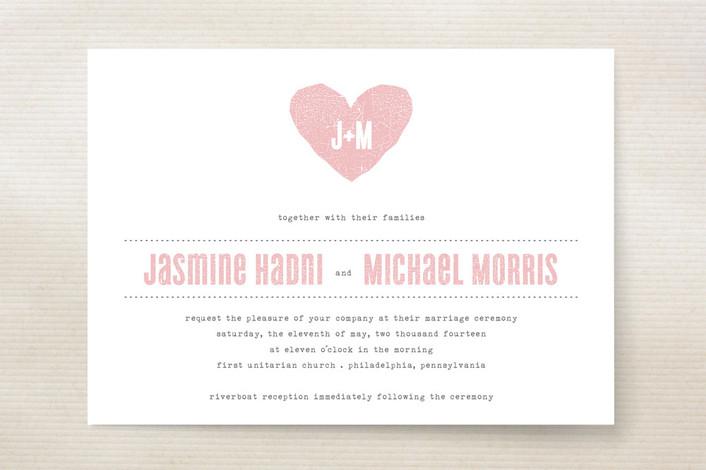 One Heart Wedding Invitations