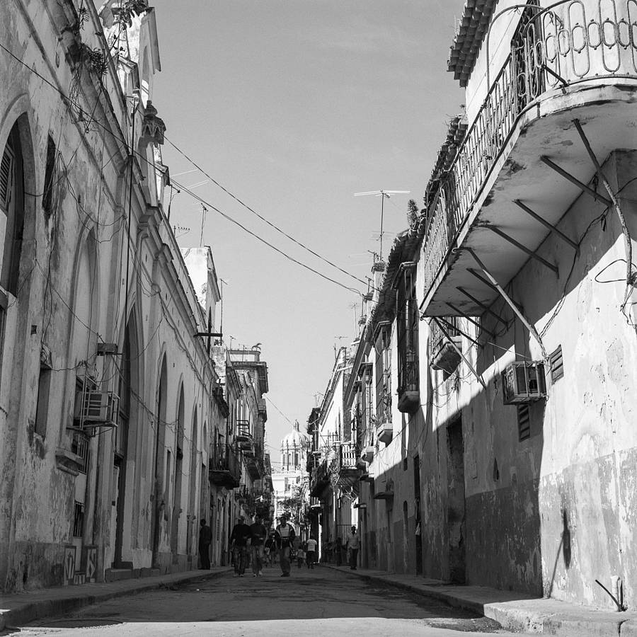 Architecture, Cuba, Black And White Signed Art Print