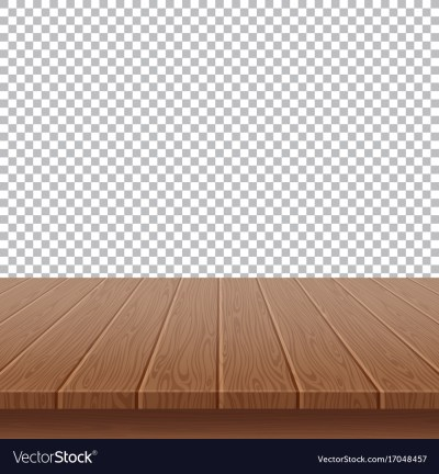 Wood table top on isolated background Royalty Free Vector
