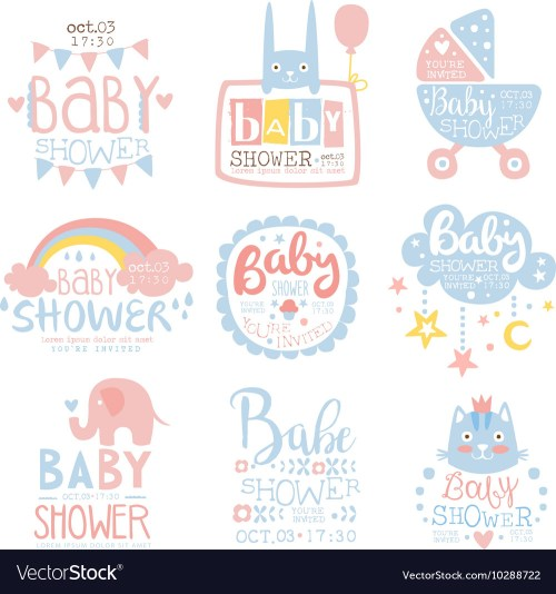Medium Of Baby Shower Invitation Template