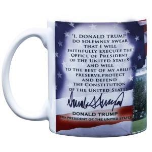 Natural Regular President Elect Donald Trump President Inauguration Day Oath Safe Plastic Coffee Mugs Safe Coffee Travel Mugs