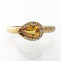 Small Crop Of Yellow Sapphire Ring