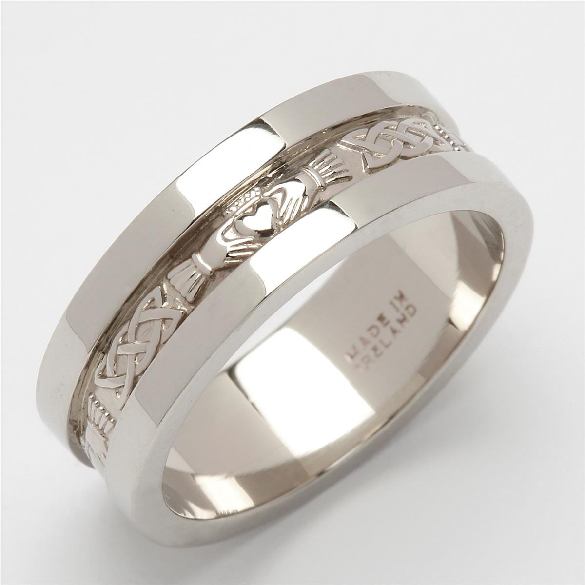 rz silver claddagh wedding bands