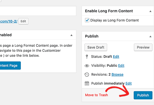 Publishing your long form content