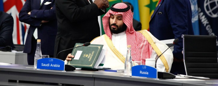 Mohammed bin Salman in Buenos Aires. Photo: Bloomberg