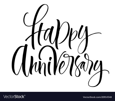 Happy anniversary lettering Royalty Free Vector Image