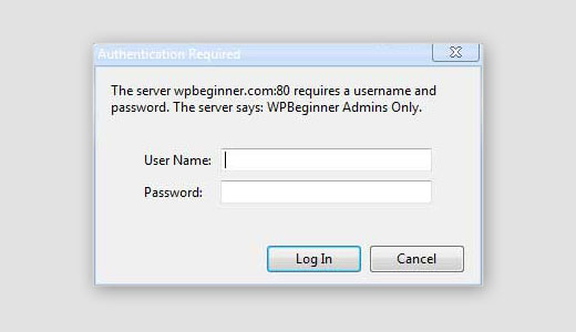 Password protecting wp-admin