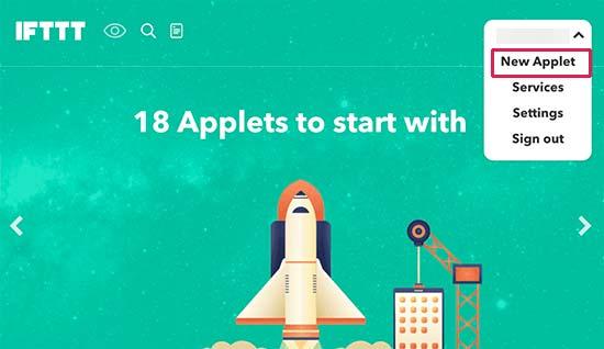 Create new applet